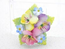 VTG ARTONE Fine Bone China ENGLISH Pastel Porcelain Flower Pin Brooch