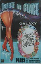 """""""PRINCESSE CSARDAS / OPERETTE SUR GLACE"""" Affiche originale entoilée 41x62cm"""