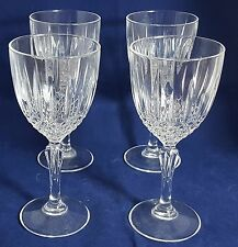 4 Beautiful Cut Glass / Crystal Wine Glasses (Height - 16.5 cm)