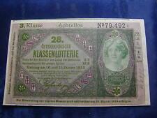 20 Kronen 28. Klassenlotterie Achtellos 3. Klasse Donaustaat Österreich W/17/195