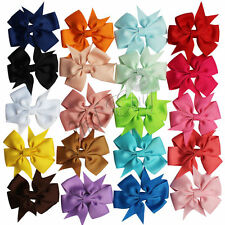 20X GROSGRAIN RIBBON BOW HAIR CLIP PIN ALIGATOR CLIPS FLOWER for BABY AND GIRL