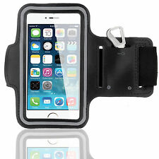 Sports Running Workout Gym Armband Arm Band Case Cover for iPhone 6 6S - Black