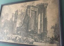 PIRANESI Francesco (1756-1810)Italian old master extremely Rare etching