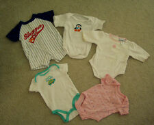 Baby Girl Clothes 5 Oneseie/Top Slugger Little Wonder Faded Glory Pet Smoke Free