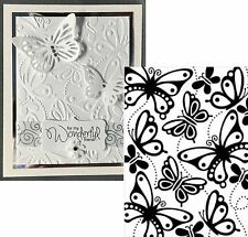Darice Embossing Folders BUTTERFLIES 1219-207 Insects Cuttlebug Compatible