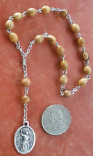 Handmade St Joan of Arc Chaplet + Holy Land Olive Wood Rosary + Soldiers, France