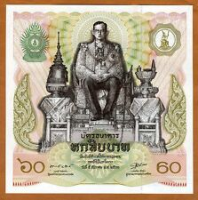 Thailand 60 Baht, 1987, P-93 UNC   King's's 60th Birthday, Commemorative