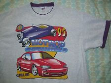 Original 90s Vtg 17TH ANNUAL HOT ROD SUPERNATIONALS Canfield OH  t-shirt Mens XL