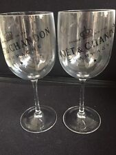 Moet Chandon white plastic Clear Goblets Set of 2 Home Bar Pub man cave