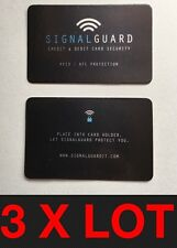 3 X Signal Guard In Retail Sleeve I RFID  Contactless Credit Card Protector