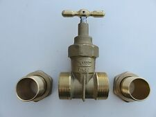 "Plasson Stoptap Valve DN32 DN16 1-1/2"" + 2"" Brass Gunmetal Below Ground stopcock"