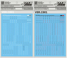 D.L high quality common caution Decal water paste For Bandai MG 1/100 Gundam 001