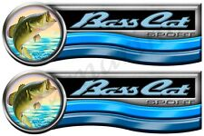 Two Bass Cat Boats Designer Decals Remastered.