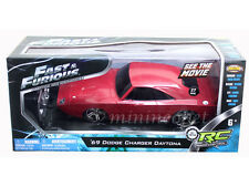 NKOK FAST & FURIOUS RC RADIO REMOTE CONTROL 1969 DODGE CHARGER DAYTONA 1/24 RED