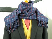 Mens 100% Lambswool Scarf Exquisite Check Design