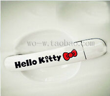 FOR hello kitty  bowknot  funny car vinyl window sticker decal decals /4 pieces