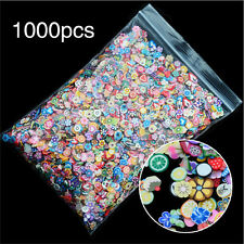 1000PCS 3D Fruit  Fimo Slice Clay DIY Nail Art Tip Sticker Decoration HF