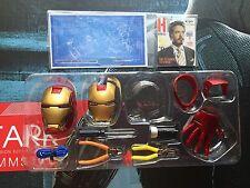 HOT TOYS 1/6 mms191 TONY STARK WORKSHOP helmet & face mask & tools set