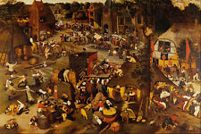 492000 Flemish Fair Pieter Brueghel The Younger A4 Photo Print