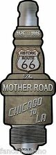 "Route 66 The Mother Road Novelty Metal Spark Plug Sign 6"" x 17"" Wall Decor"