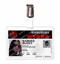Captain America Hydra Bucky Barnes Winter Soldier ID Badge Cosplay Halloween