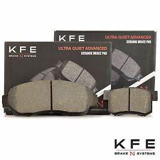 FRONT + REAR New Premium Ceramic Disc Brake Pad Set With Shims KFE1521 KFE1086