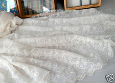 """1y Embroidery  Eyelet mesh Lace Fabric Ivory - 90cm(36"""") x 130cm(51"""") yh1366"""