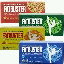 4 FATBUSTER VARIETY FLAVOR DIETERS DRINK WEIGHT LOSS DIET TEA 100% NATURAL