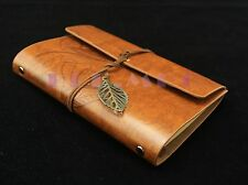 "7""x5"" Journals Book Handmade Vintage Leather Notebook Travel Journal Brown"