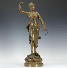 Henri Louis Levasseur (1853-1934)  jugendstil Bronze Skulptur 1900 Diana Jagt