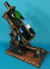 Antique/ Vintage Gothic Revival Spain Carved Wood Wine Decanting Machine