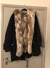 On Parle De Vous Paris Real Rabbit Fur Lined Parka Yves Salomon Sz Fr44 Uk14