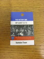 18/09/2012 Ticket: Portsmouth v Swindon Town [The Victory Bar VIP Guest Pass] .