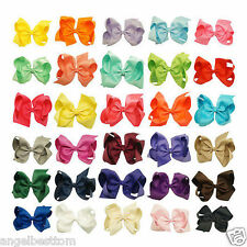 6 Inch 30pcs/lot  Knot Grosgrain Ribbon Hair Bow With Clip For Girls Hairpins