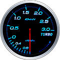 DEFI LINK METER ADVANCE BF TURBO BOOST GAUGE -3 BAR 60MM DF14703 BLUE
