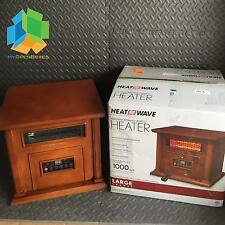 Heat Wave 1500-Watt Infrared Electric Portable Heater with 6 Quartz Element