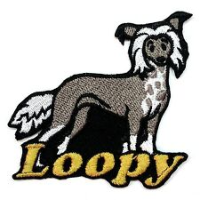 Iron-on Chinese Crested Patch With Name Personalized Free