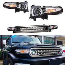Toyota FJ Cruiser 2007-2014 Headlights LED DRL Halo Projector Eagle Eye