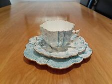 Antique Wileman Foley Shelley Cup, Saucer & Plate Daisy shape Jungle Pattern1890