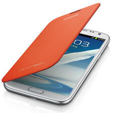 Genuine Samsung Galaxy Note 2 N7100 N7105 Orange Book Diary Flip Case Cover