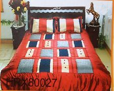 Satin Quilt/Bedspread 3 Pcs Set King/Queen Different Patterns and Multi-Color