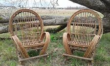 2 Hand crafted willow twig chairs