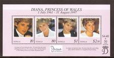 TONGA, 1998  PRINCESS DIANA COMMEMORATION MINATURE SHEET MNH