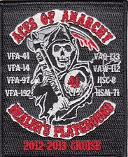 VFA-41 ACES OF ANARCHY 2012-2013 CRUISE PATCH / DEALER'S PLAYGROUND
