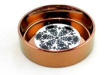 A Bjorn Wiinblad dish for Rosenthal Studio Line. Copper, white & black. B