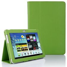LEATHER Stand Case Cover per Samsung Galaxy Tab 2 10.1 pollici P5100 P5110-Verde