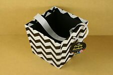 "Paper / Cardboard CHEVRON Favor Bucket w/ Ribbon Handle 4"" x 5"" Choose Color"