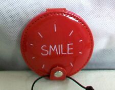 "#CS-HJ ENGLAND WILD & WOLF HAPPY JACKSON- NWT ""SMILE"" RED 2 SIDED COMPACT MIRROR"