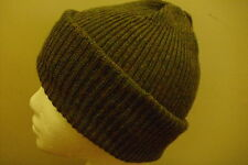 Mens Knitted Beanie- Army Watch Type 100% Wool Army or Forest Green