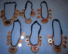 "Necklaces WHOLESALE LOT05 SIX Afghan Kuchi Coin Tribal Alpaca Silver 20"" to 24"""